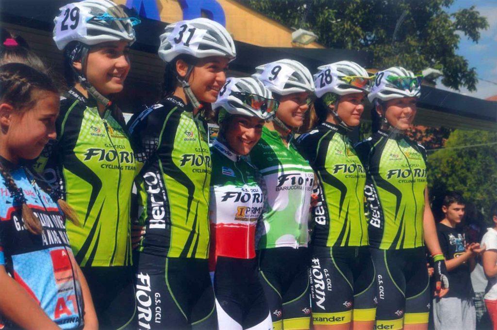 Cicli Fiornin squadra femminile sponsor berto