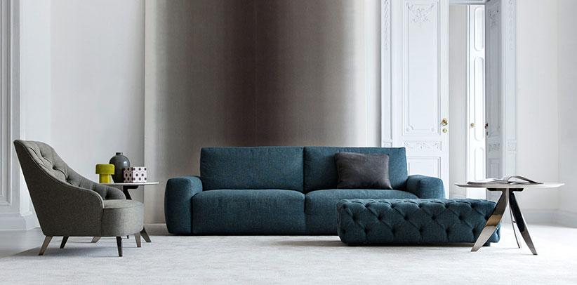 sofa moderno monocasco johnny berto salotti