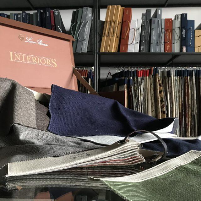 campionario loro piana interiors collezione tessile berto showroom meda