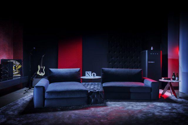 modularen Sofa Joey mit Denim-Bezug