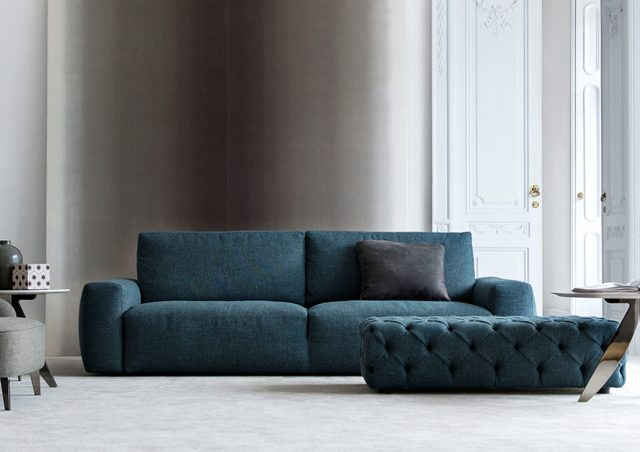petrol blau sofa johnny aus stoff