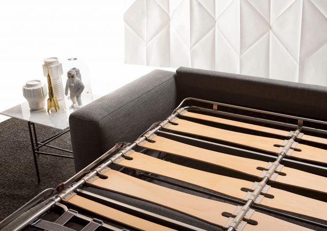 Passepatrout sofa bed with wooden slat mechanism berto salotti