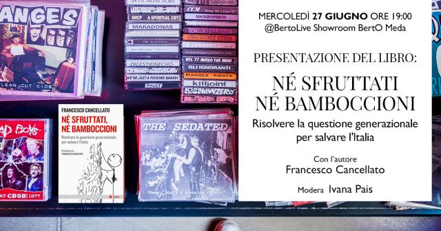 Invito evento di presentazione libro Francesco Cancellato