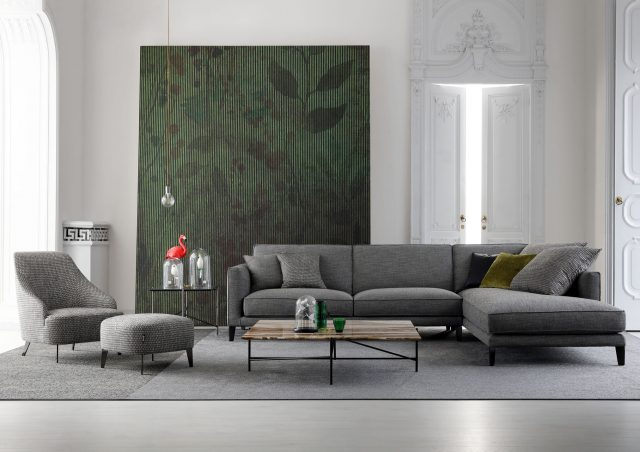 Time Break sectional sofa berto salotti made in italy
