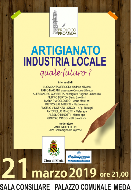 Programma evento quale futuro per l'artigianato locale?
