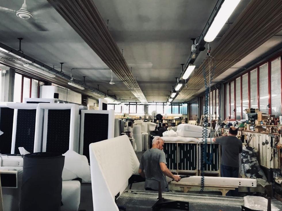 Il laboratorio Berto a Meda in via Consorziale dei Boschi