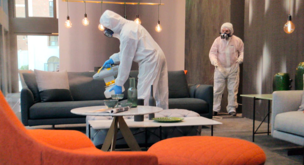 sanificazione showroom berto per appuntamenti esclusivi in totale sicurezza