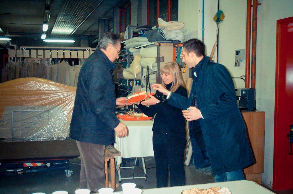 Nicoletta Barni con il fondatore della Berto Fioravante e Filippo