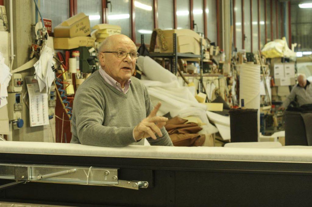 Giorgio Berto in laboratorio