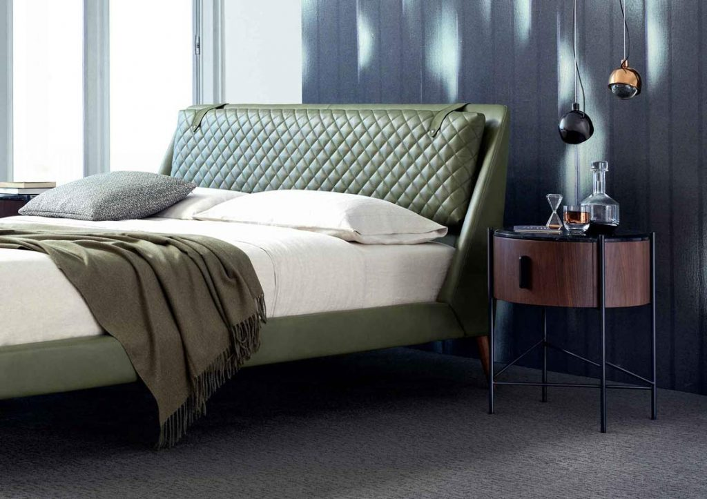 Camera da letto BertO - Letto in pelle Chelsea
