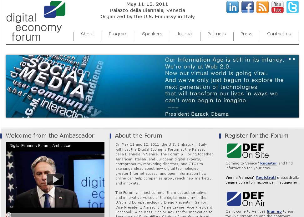 filippo berto al digital economy forum di venezia 2011