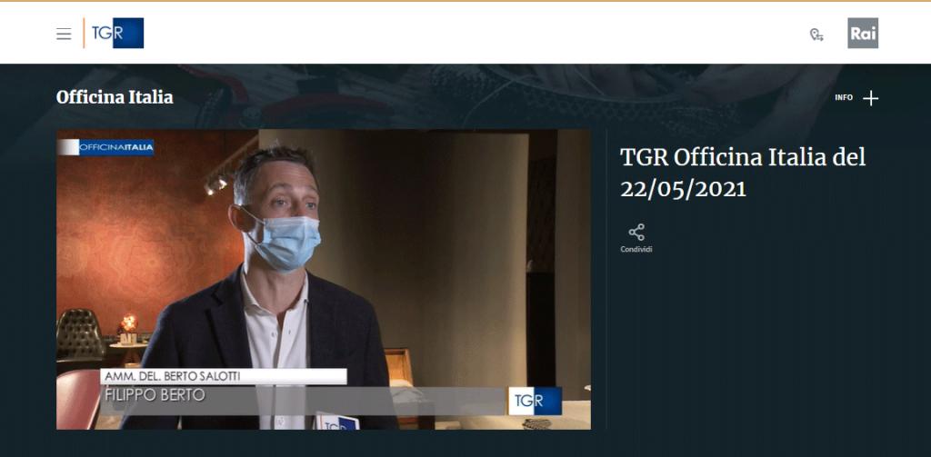 Filippo Berto intervistato a Officine Italia TGR