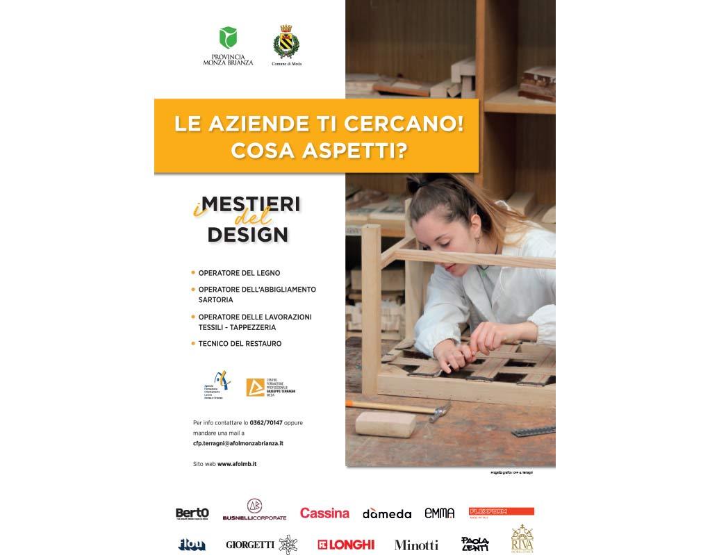 I mestieri del design: progetto di formazione professionale cfp terragni e aziende meda