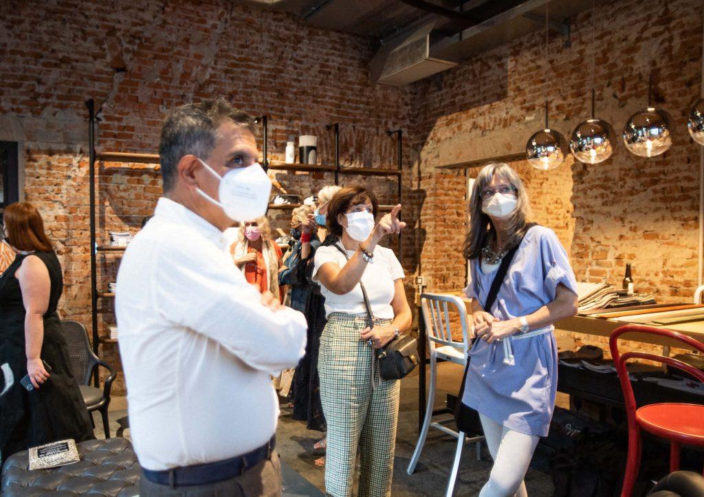 Marion e i clienti - Inaugurazione BertO Studio @ LOM